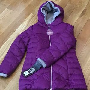 Girls poly down jacket